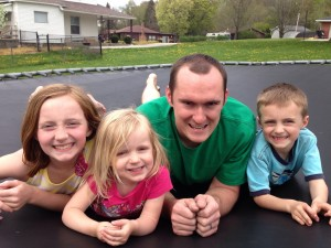 activities with kids: trampoline