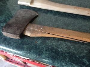 how to repair a broken axe handle