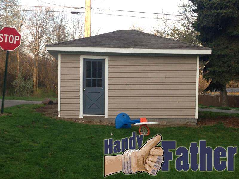 Framing garage side door after handy father for Garage side door and frame