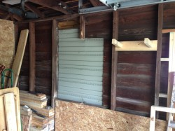 Prep for framing a garage window