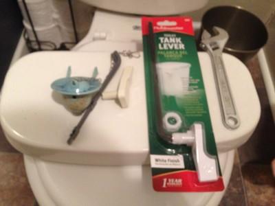 How to replace broken toilet handle