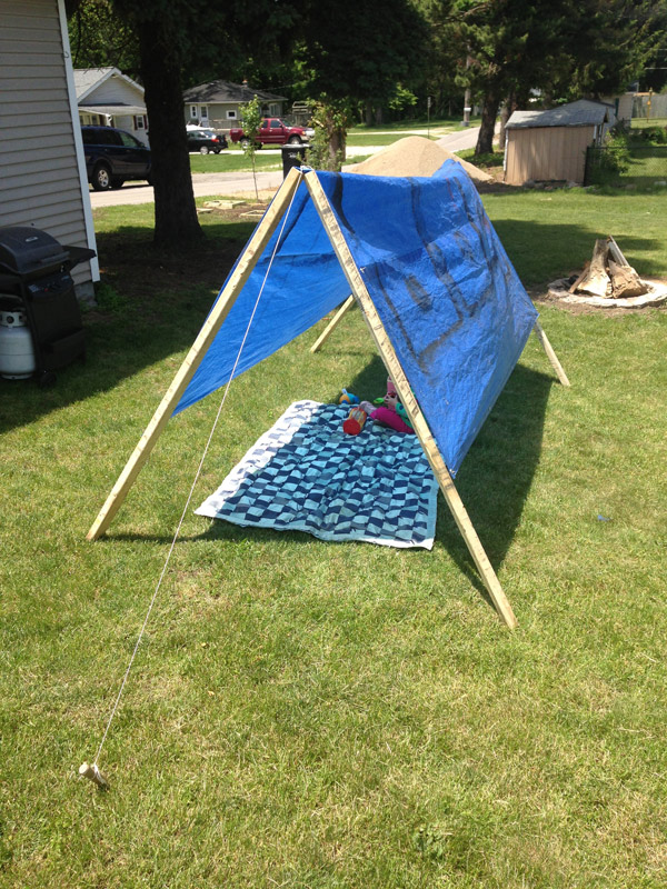 simple-tent-from-a-tarp : simple tent - memphite.com