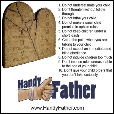 10 commandments for parents