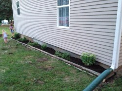 This DIY flower garden is easy to install and looks great