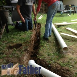 handy father physical fitness day 2: trench diggin strength training