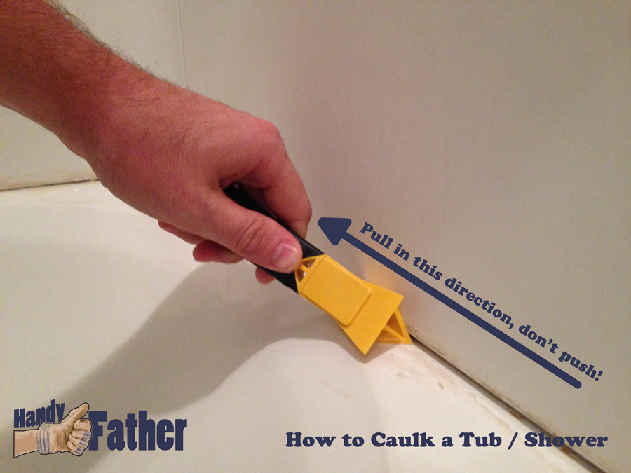 a caulk removing tool handy father llc. Black Bedroom Furniture Sets. Home Design Ideas