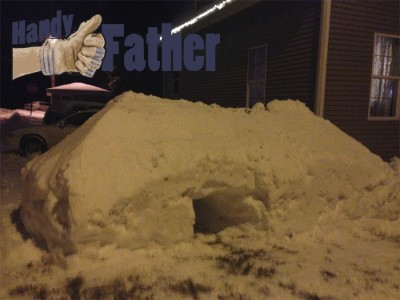 Easy Snow Fort Building Handy Father Llc