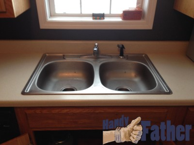 how to replace an old kitchen sink