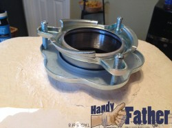Newly installed garbage disposal flange