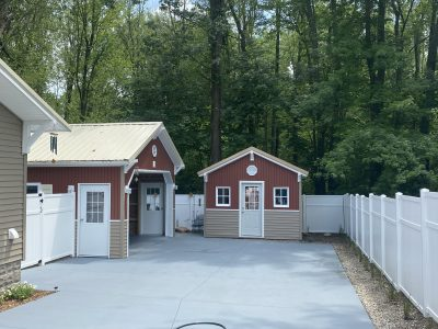 New shed built and siding by Handy Father, LLC
